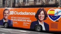 Encuentra los errores en el autobús de campaña de C's en