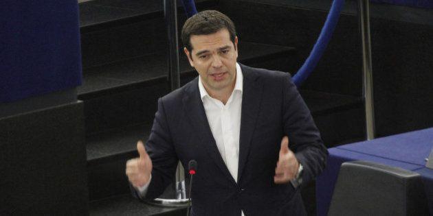 Una crónica de la visita de Tsipras al Parlamento