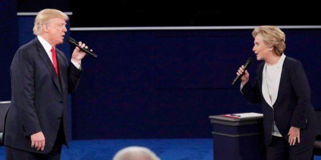 Lluvia de chistes con esta foto de Hillary Clinton y Donald