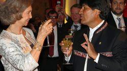 La reina a Evo Morales: