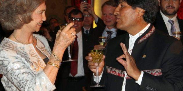 La reina Sofía a Evo Morales: