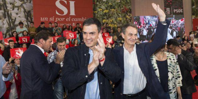 Zapatero, junto a Sánchez: Los elogios de Iglesias son un