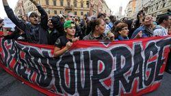 Multitudinaria protesta en Roma contra el gobierno de