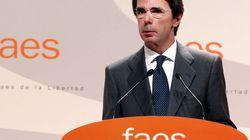 El expresidente José María Aznar, hospitalizado por una fuerte