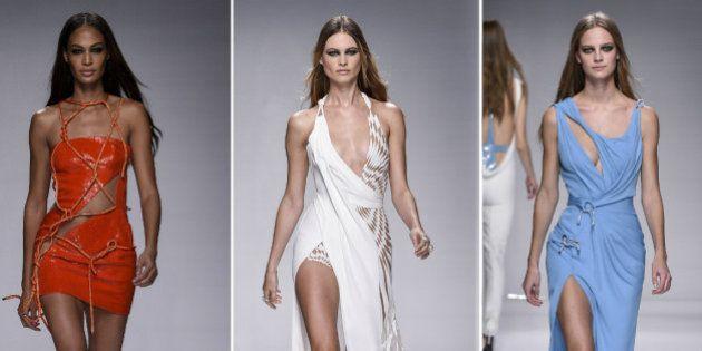 Los impresionantes escotes de Versace en la Semana de la Moda de