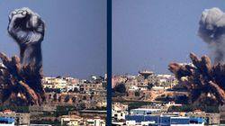 Artistas palestinos convierten en arte los bombardeos israelíes