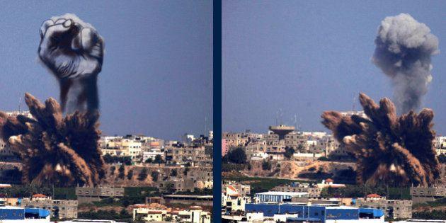 Artistas palestinos convierten los bombardeos israelíes en arte como signo de rebeldía
