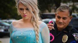 Elsa, de 'Frozen', detenida por causar una ola de frío