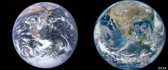 La Tierra desde el espacio: de aquel 'punto azul pálido' a las imágenes más nítidas del planeta