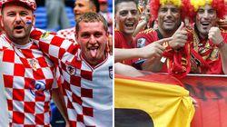 Las aficiones de Croacia y España irritan a Italia