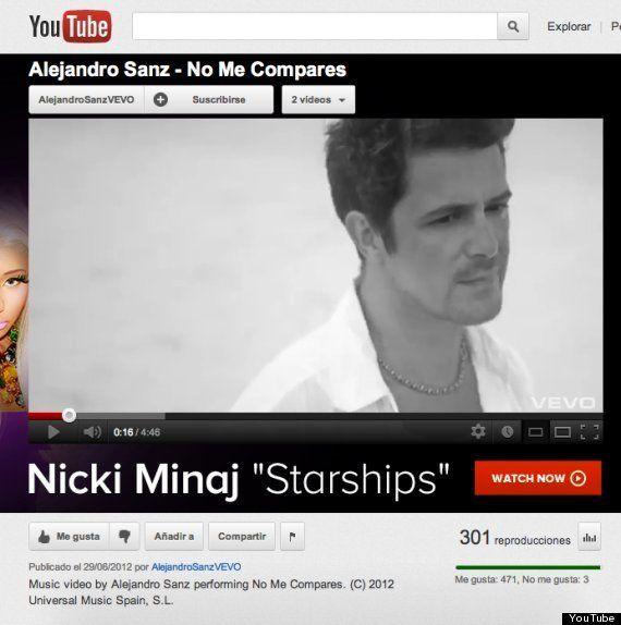 ¿Por qué el nuevo vídeo de Alejandro Sanz en YouTube solo tiene 301 reproducciones?