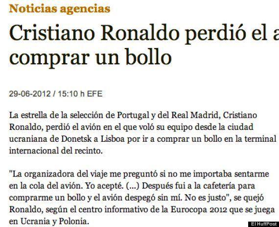 Cristiano Ronaldo no perdió ningún avión por comerse un