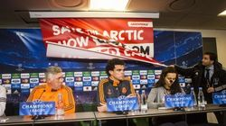 La 'sorpresa' de Greenpeace a Ancelotti y Pepe