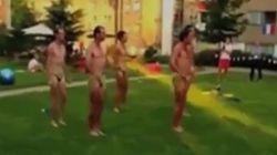 La otra 'ceremonia de apertura' del equipo australiano de remo