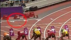 Detenido tras lanzar una botella a la pista durante la final de 100