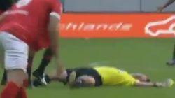 Un árbitro denuncia al capitán del Benfica por agresión