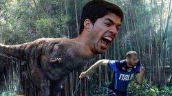 Internet se llena de memes del mordisco de Luis Suárez