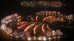 En Dubai sí que saben recibir el año