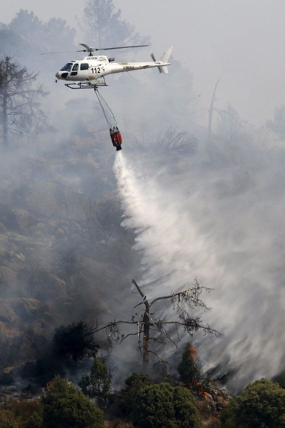 Incendio forestal en Madrid: