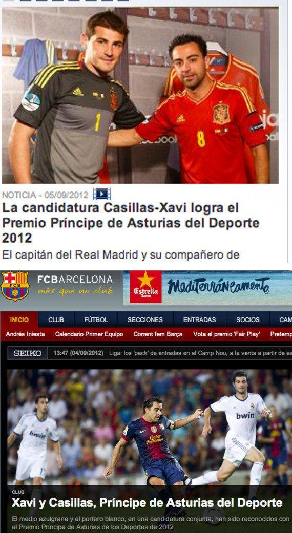 Iker Casillas y Xavi Hernández, premiados con Príncipe de Asturias del Deporte