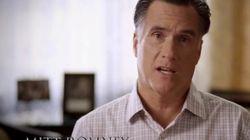 Romney mira a cámara para hablar de