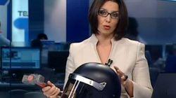Telemadrid informa del fallo de Pedraz con mazo y casco