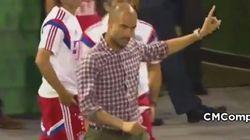 El enfado de Guardiola durante un amistoso