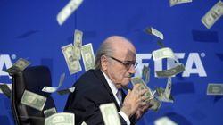 Blatter, susto y enfado entre