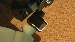 Mira el primer 'souvenir marciano' que ha recogido Curiosity