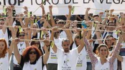 Miles de personas protestan en Madrid contra el Toro de la Vega