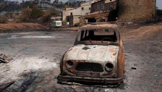 Las impresionantes imágenes del incendio de Òdena