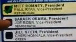 Una máquina electoral sólo registra el voto a Romney
