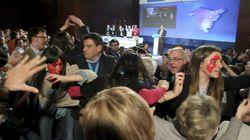 El discurso de Rajoy, interrumpido por gritos de
