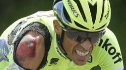 Así ha sido la caída de Contador en la primera etapa del Tour de Francia