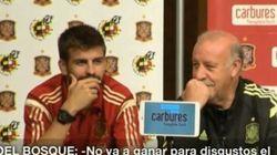 La 'pillada' a Piqué y Del Bosque