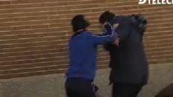 Dos ultras del Deportivo, detenidos por esta agresión a un cámara