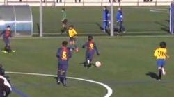 Los más pequeños del Barça juegan... como los mayores