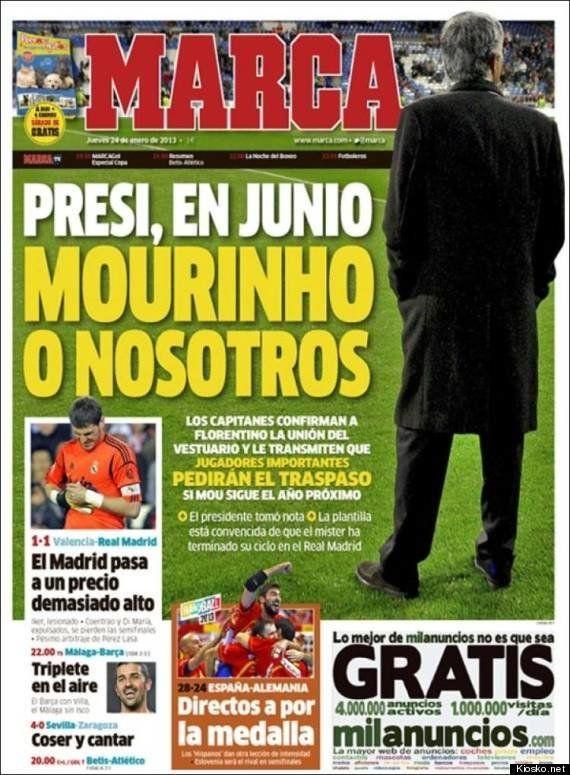 Florentino Pérez, molesto con la portada de 'Marca':
