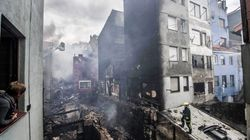 Un espectacular incendio en Bermeo derriba cinco edificios (VÍDEO,