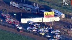 30 heridos tras el descarrilamiento de un tren en California