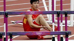 El drama del atleta chino Liu Xiang en los 110 metros vallas (FOTOS,