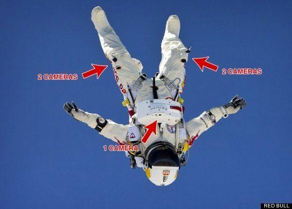 El salto estratosférico de Felix Baumgartner visto en primera persona (VÍDEO,