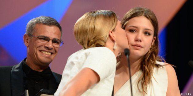 Un romance lésbico, Palma de Oro en Cannes mientras miles de personas se manifiestan contra el matrimonio