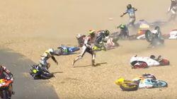 La multitudinaria caída en el GP de Francia de Moto