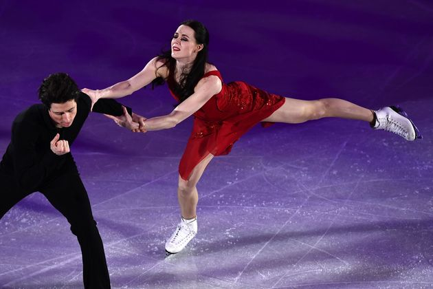 Tessa Virtue performs with Scott Moir perform during the figure skating gala event at the 2018 Winter...