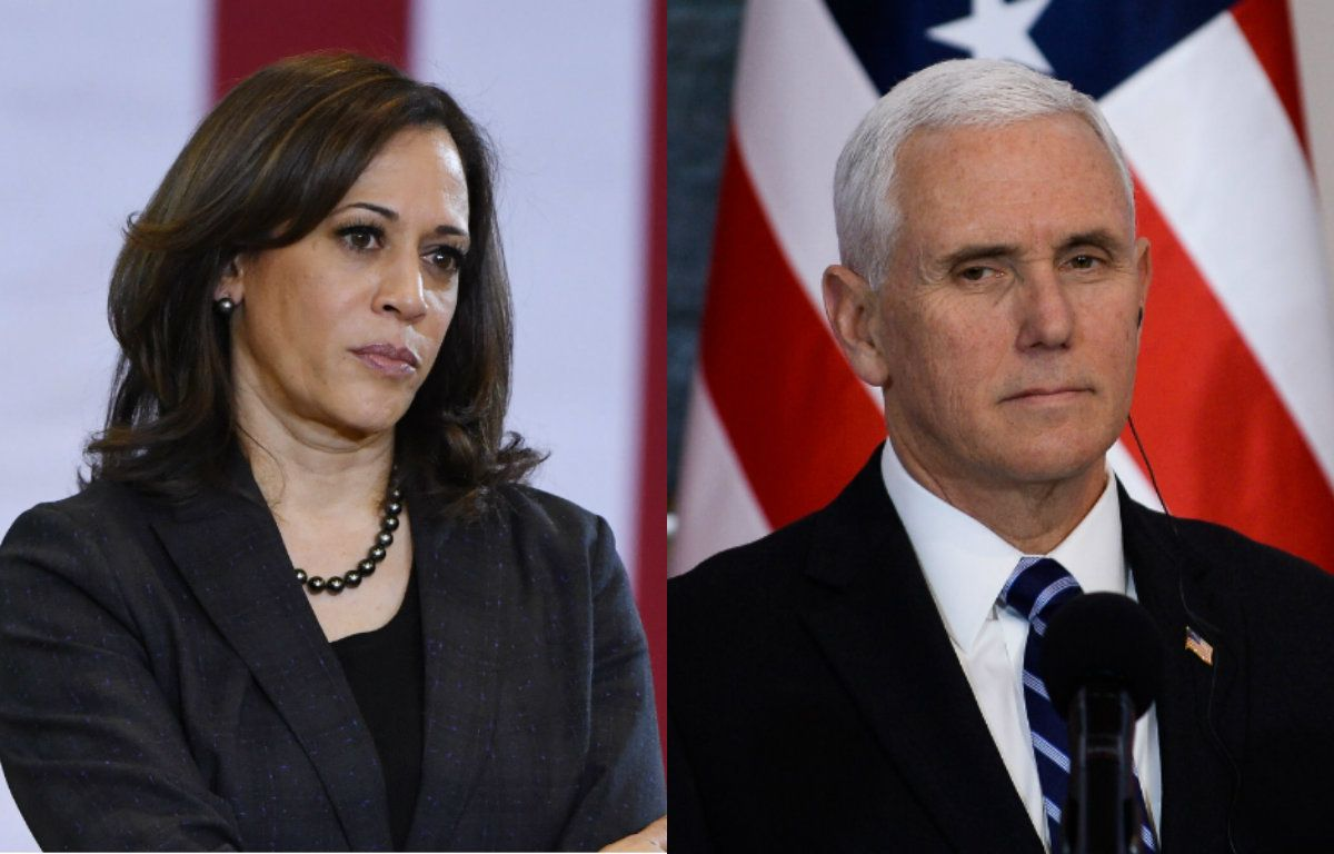 Kamala and Mike Pence