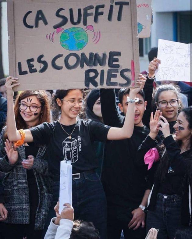 Grève pour le climat: À Casablanca, des centaines de lycéens de Lyautey