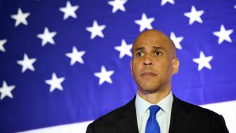 NORTH LAS VEGAS, NEVADA - FEBRUARY 24:  U.S. Sen. Cory Booker (D-NJ) listens to a question at his 'Conversation with Cory' campaign event at the Nevada Partners Event Center on February 24, 2019 in North Las Vegas, Nevada. Booker is campaigning for the 2020 Democratic nomination for president.  (Photo by Ethan Miller/Getty Images)