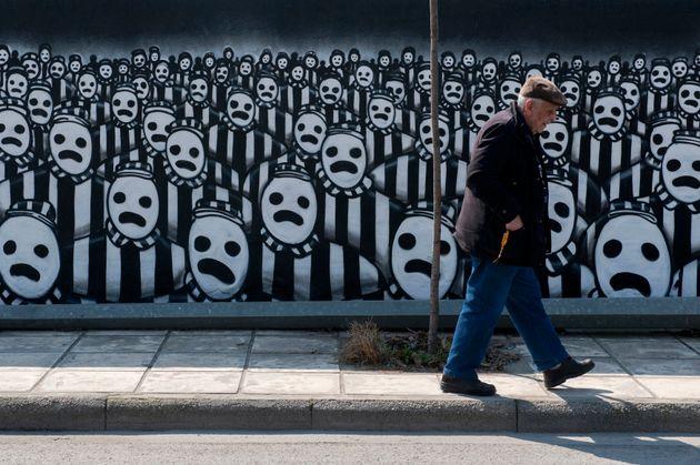 Graffiti αφιερωμένο στα θύματα...
