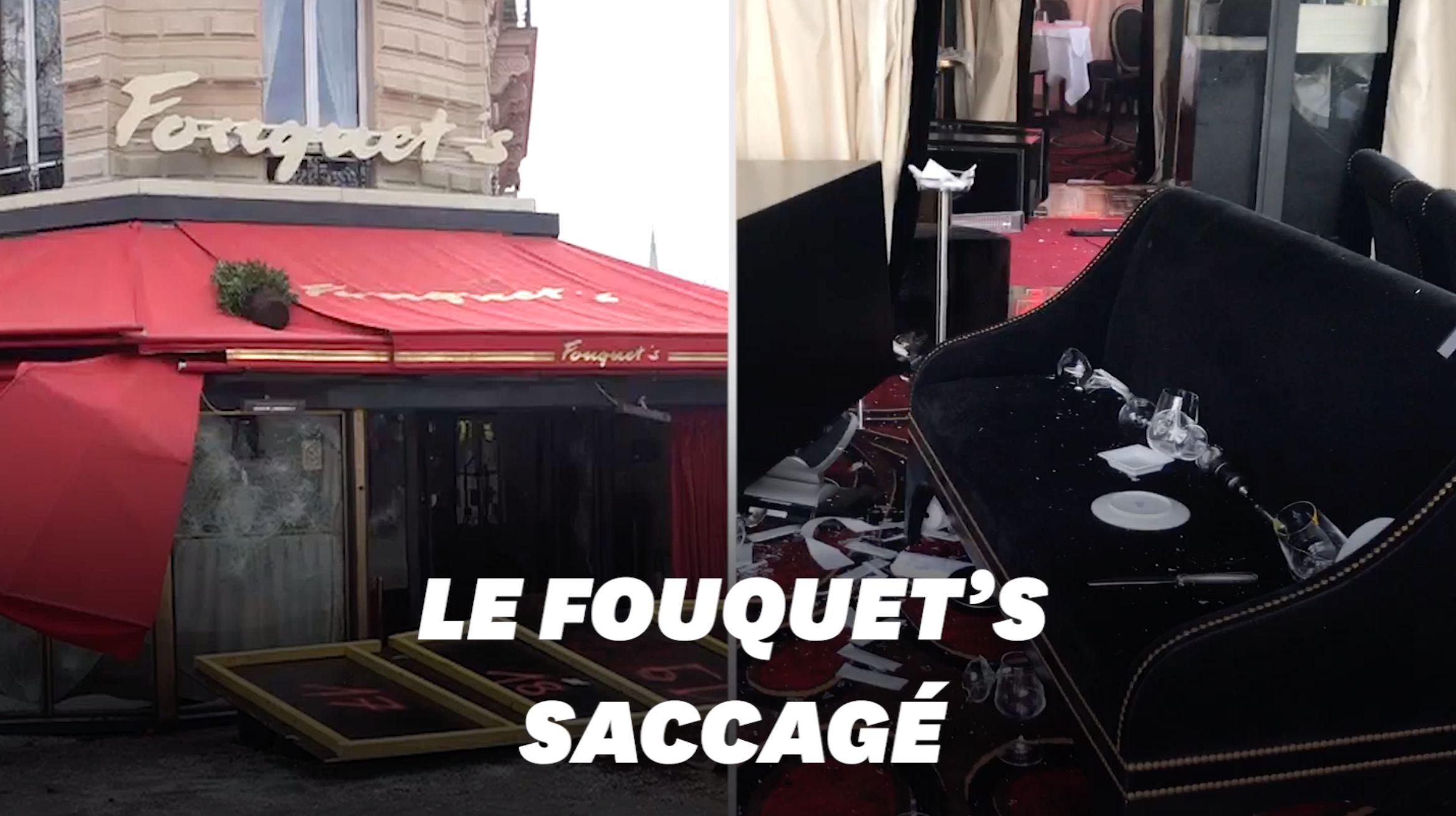 Le Fouquet's vandalisé en marge de l'acte XVIII des gilets jaunes